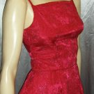 GLITTER GLAM vintage 60s Electric PINK Satin Brocade Cocktail PARTY DRESS XS