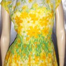 Flirty 50s Springtime Floral Pleated Circle Skirt PARTY DRESS M.