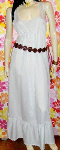 Designer JOHN KLOSS Vintage 70s Boho White Cotton SUNDRESS Slipdress M.