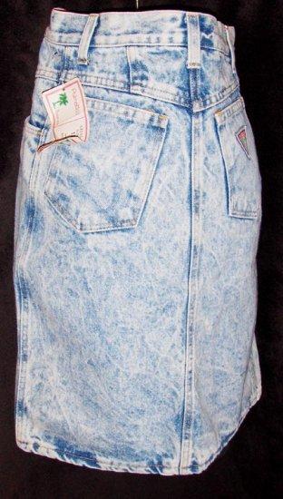 PREPPY 80s High Waisted ACID WASH Mini Denim Jeans Skirt NWT XS/XXS
