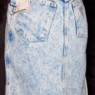 PREPPY 80s High Waisted ACID WASH Mini Denim Jeans Skirt NWT XS/XXS