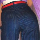 80s PREPPY PIN STRIPES High Waisted GITANO Jeans 7/8