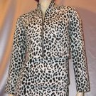 MEOW Vintage 80's FREDERICKS OF HOLLYWOOD Leopard Print Mini Skirt and Jacket Outfit S/M