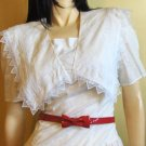 GOTHIC SNOW WHITE GUNNE SAX Vintage 80s Lolita Dress M