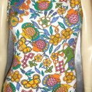 DANGEROUS CURVES 80s KIKIT Maurice Sasson Formfit Spandex FOO DOG Wild Print Curvy Mini Dress NWT M