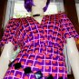 70s SPACE GIRL GROOVY Atomic NEON OP ART Top & Pants Set M. MOD Outfit