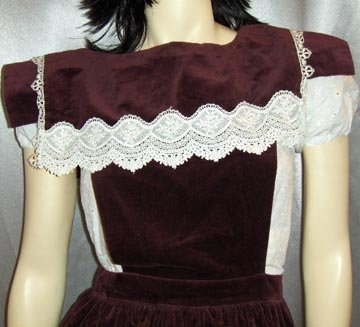 70s GUNNE SAX Gothic Lolita Victorian Pinafore Dress XS