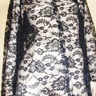 GOTHIC VAMPIRESS Black Roses SHEER Chantilly Lace VINTAGE VAMP DRESS full sweep