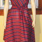 SASSY in STRIPES A-line DISCO DRESS vintage 70s 80s M.