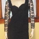 VOLUPTUOUS VAMP Sexiest Black Lace Roses Formfit Mini Dress Wicked Goth  PARTY Girl Sz 4 S/XS