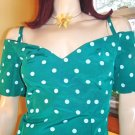 80s RETRO ROCKIN Polka Dot PINUP PARTY DRESS M.