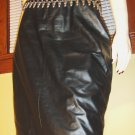80s Rocker Girl Skin Tight Black Leather High Waisted Pencil Skirt Sz 9/10