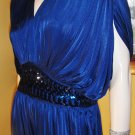 80s GLAM DIVA Draped Disco Party Jumpsuit Outfit Sz 11/12