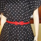 RETRO ROCKIN Vintage 50s Style Puff Slv Polka Dot Circle Skirt Swing Dress M.