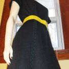 Vintage Vixen Mod 70s Black Skinny Sheath Dress HOUSE OF SHROYERS M.