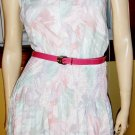 80s Flirty Floral 50s Retro Style Pleated Party Dress Sz 14