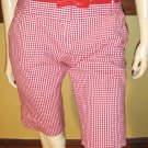RETRO LOVIN' 50s Pinup Style Red Gingham Capri Shorts rockabilly gal Sz. 9