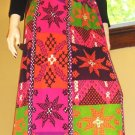 Psychedelic 60s Swanky MOD NEON Hippie Girl Maxi Dress M/L