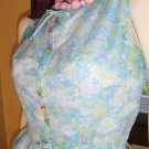 Vintage 50s Doll Sweet Floral Accordion Pleat Circle Skirt Day Dress S/XS