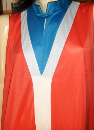 WONDER WOMAN WANNA-BE Vintage 70s Female Superhero Dress costume dressup fun