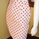80s Playful Pin Up Polka Dot Print High Waisted Denim Mini Skirt S.