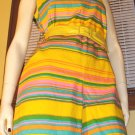 Sassy in Stripes Swingin&#39; 60s Psychedelic Rainbow Romper M/L