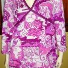 GO MOD Psychedelic Babydoll Minidress Go Go Dress 60s 70s M.
