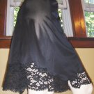 Vintage 60s Vanity Fair Black Lacy Nylon Tricot Half Slip S