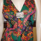 Princess Of MOD Vintage 60s Psychedelic Groovy Hippie Girl Maxi Dress Gown S/M