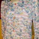 70s Boho Pink Floral Skinny Tunic Dress M