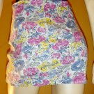 Vintage 80s Diva Skin Tight Lycra Floral Micro Mini Skirt M.