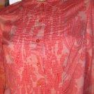 60s MOD LOLITA Pink Paisley Psychedelic Schoolgirl Shirt Dress Mini Dress M.