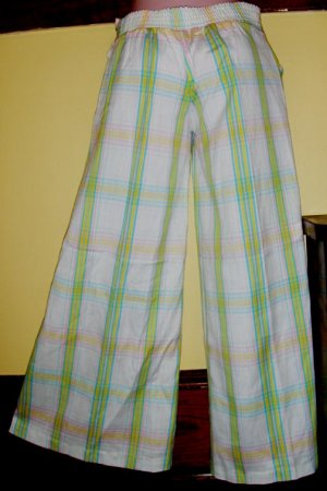 70s Swanky Hipster Rainbow Stripes Hip Hugger Pants NWT S/XS