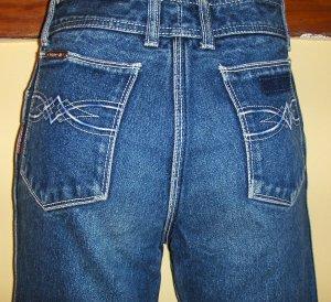 CLASSIC JORDACHE Vintage DISCO DESIGNER Blue Jeans  26/28 XS 70s 80s
