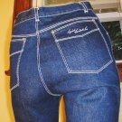 GLORIA VANDERBILT High Waisted Disco Designer Denim Blue Jeans SZ. 7 XS 70s 80s
