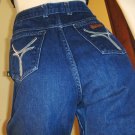 BONJOUR High Waisted Disco Designer Denim Blue Jeans SZ. 13/14 70s 80s
