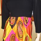 Vintage Mistress of Mod Psychedelic Paisley Print Hippie Girl Maxi Dress Gown S/M 60s 70s