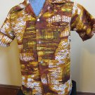 Vintage Mens Hawaiian Tikki Lounge Hepcat Shirt M. Hukilau Fashion Honolulu