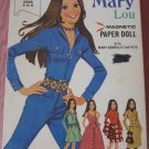 Vintage 70s Magic Mary Lou Magnetic Paper Doll Milton Bradley 1972 groovy dressup toy