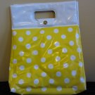 Vintage 70s Sunshine Yellow Polka Dot Pinup Funky Clutch Handbag  Insulated Tote