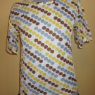 Geometric Print Groovy Hipster Nylon Top Shirt 60s 70s Mens Unisex L.