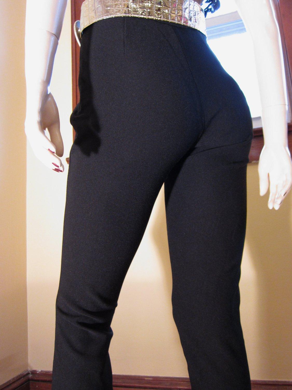Vintage 80s Fashionista Sexy Black Spandex French Designer Pants ...