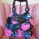 Pink Playful Playboy Bunny Print Sexy Modern Hippie Chic Handbag Purse NWT