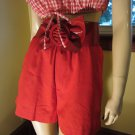 ROCKABILLY GAL Lipstick Red Vintage High Waisted PIN UP Shorts Size M/L