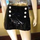 Retro MOD 60s Style Shiny Black PVC Sexy GO GO Mini Skirt NWT Sz 9