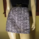 90s Wild Child Python Snake Print Mini Skirt XOXO Sz 11/12