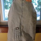 PREPPY 80s High Waisted ACID WASH Blue Denim Pencil Skirt S.