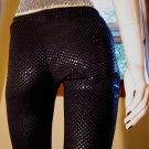 Sexy 90s Diva Black Shimmery Low Waisted Disco Party Pants S XS