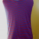 Vintage 70s Punk New Wave Hypnotic Stripes Mens Trippy Neon Tank Top L