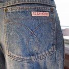 Vintage 80s Designer Calvin Klein Denim Blue Disco Jeans Sz 33 Unisex